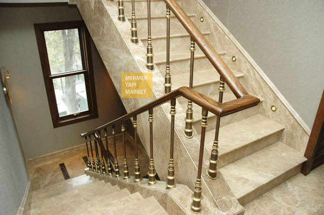 Light Emperador Marble Stair - Riser Included