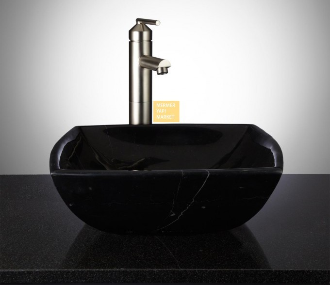Black Marble Wash Basin - Tekno