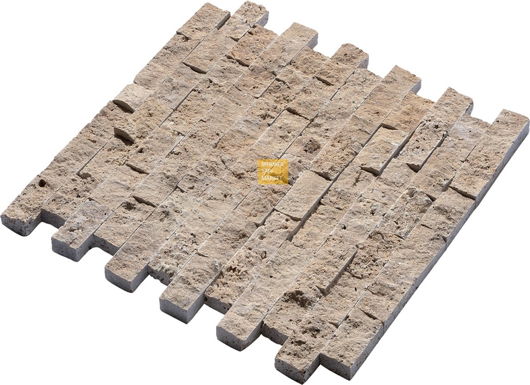 Noche Travertine Split Face Mosaic