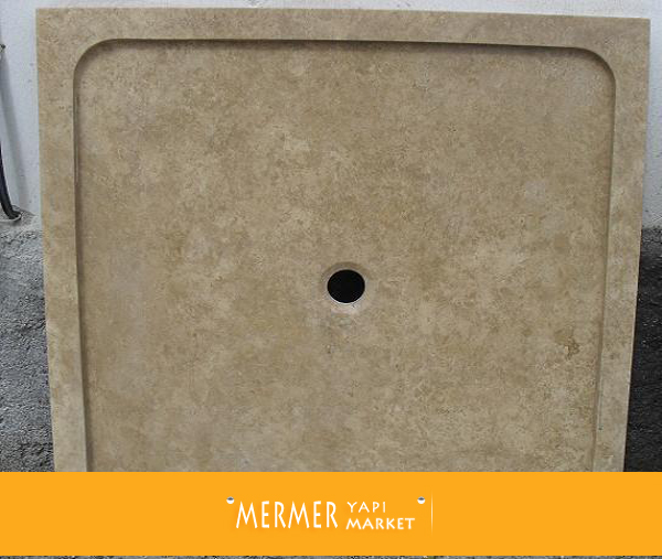 Noche Travertine Shower Tray