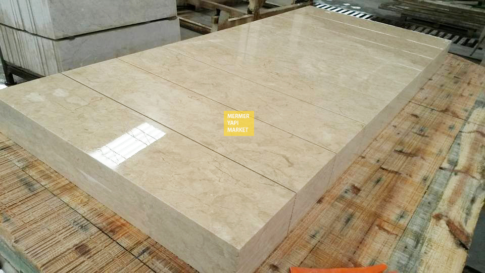 Light Beige Marble Handrail - 3 cm Thickness