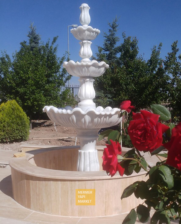 Long Marble Fountain
