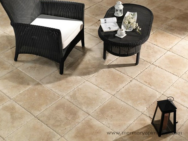 Ivory Brushed Edge Breaking Travertine