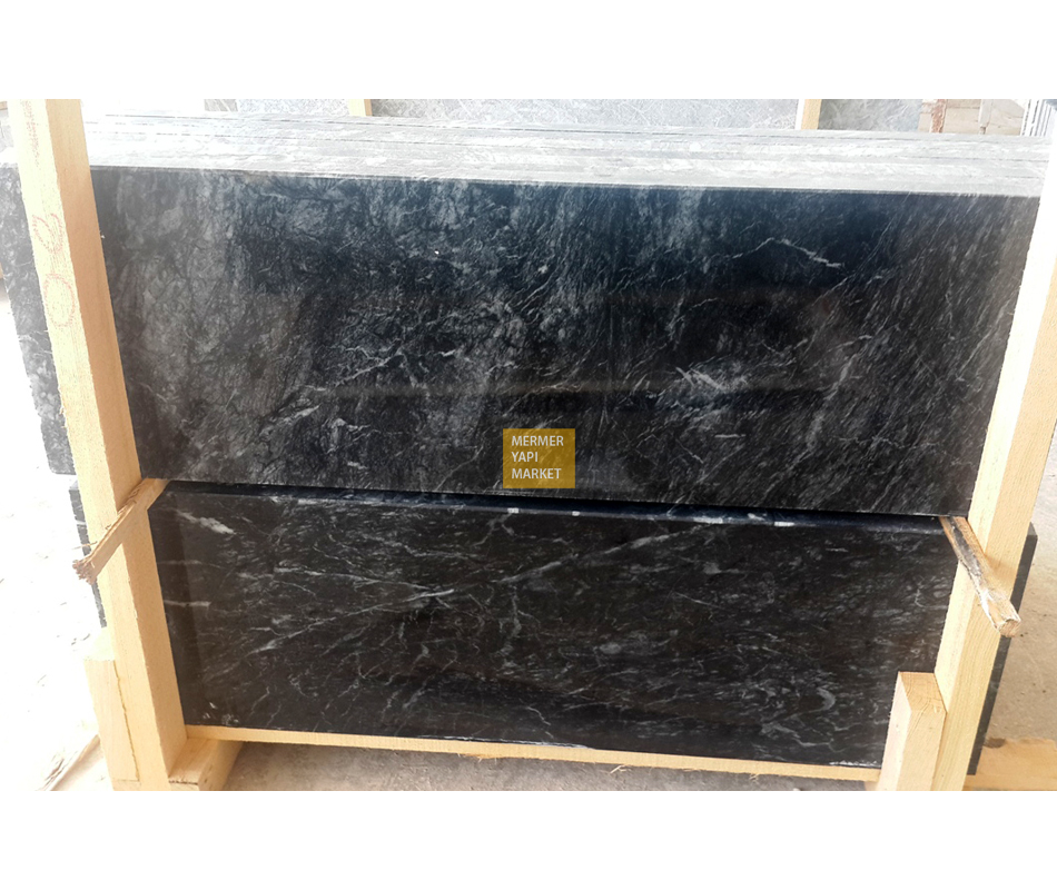Volcano Black Marble Sill- 3 cm Thickness A Quality