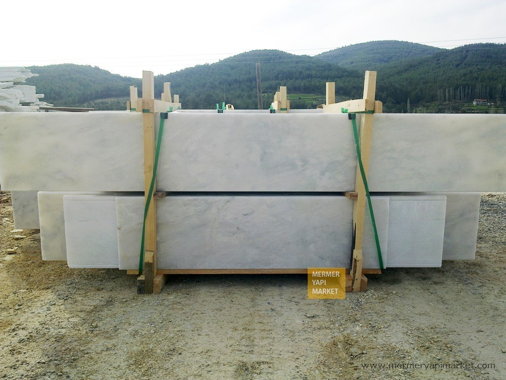 Mugla White Marble Handrail - 3 cm Thickness A Quality