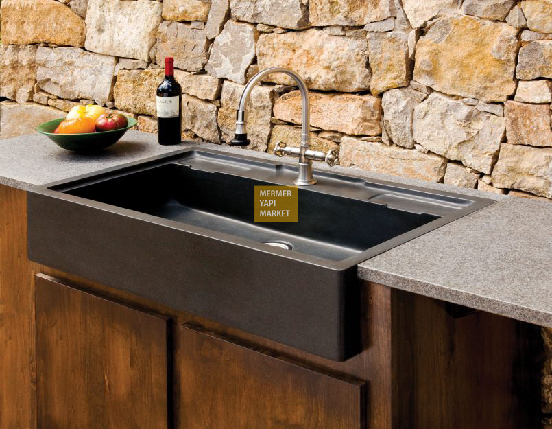 Basalt Marble Kitchen Sink