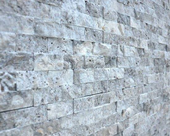 Silver Split Face Mosaic Natural Stone