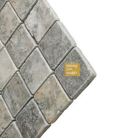 Tumbled Silver Travertine 10x10
