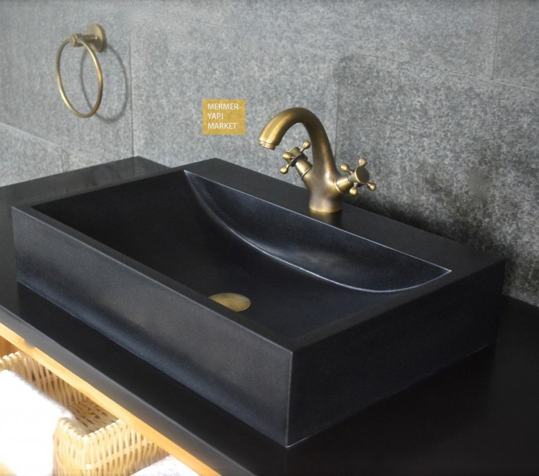 Black Square Wash Basin