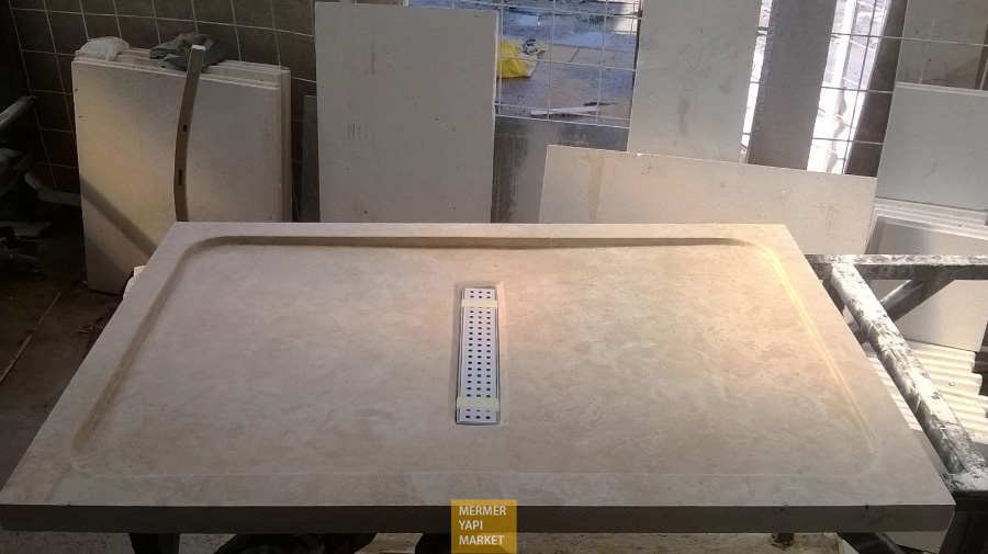 Classic Travertine Shower Tray