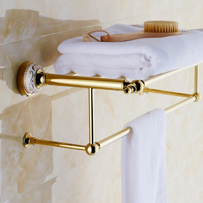 Gold Plated Five Towel Bar