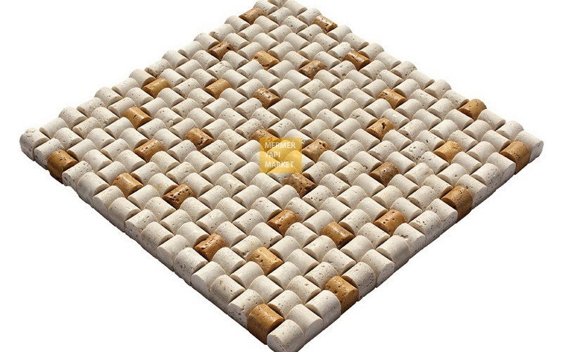 Sugar Mosaic - Light Yellow Mix Travertine