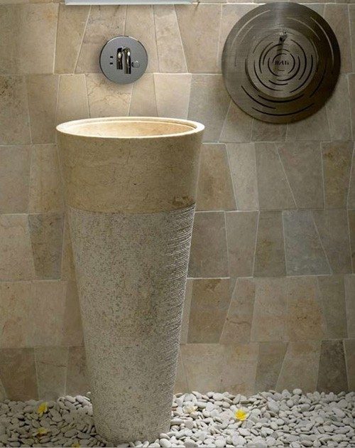 Travertine Vertical Wash Basin