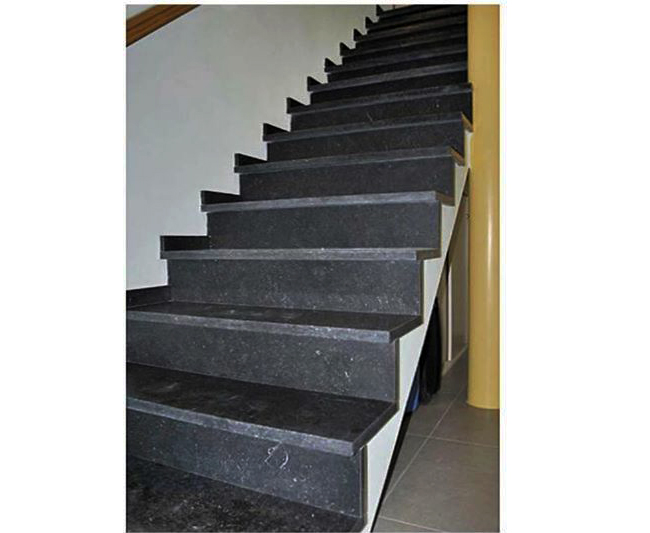 Basalt Stone Stair - Riser Included - Patinated