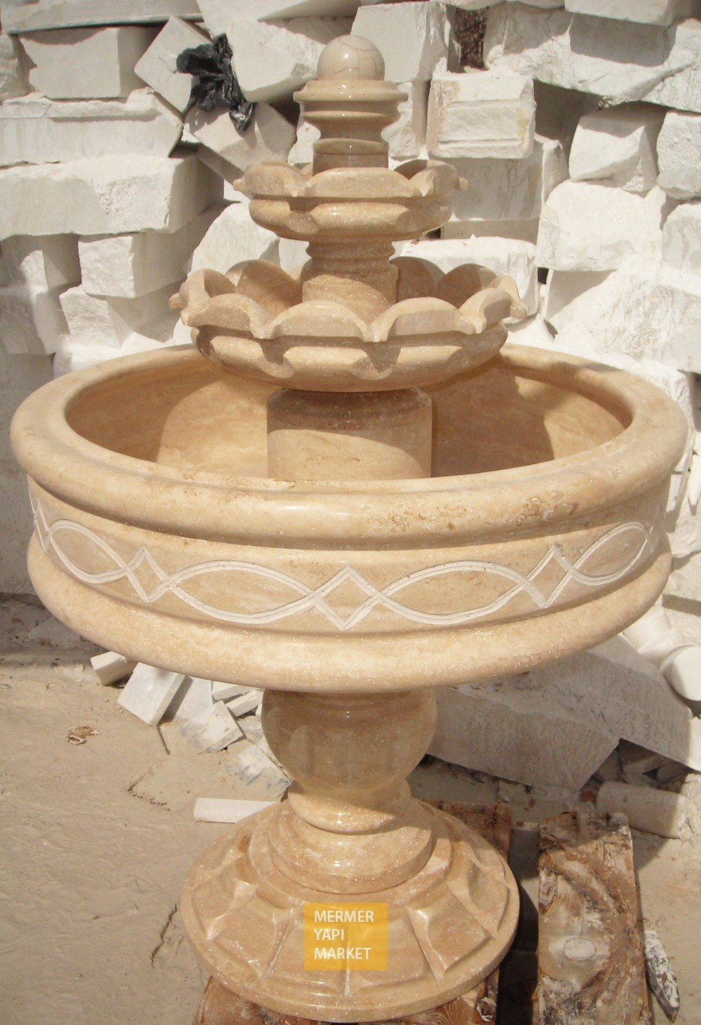 Travertine Fountain Standard