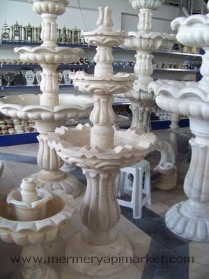 Beige Marble Fountain