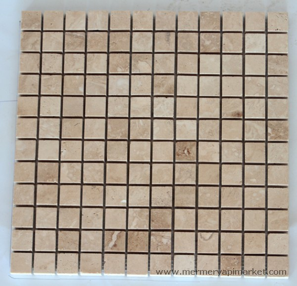 Light Travertine Honed Mosaic