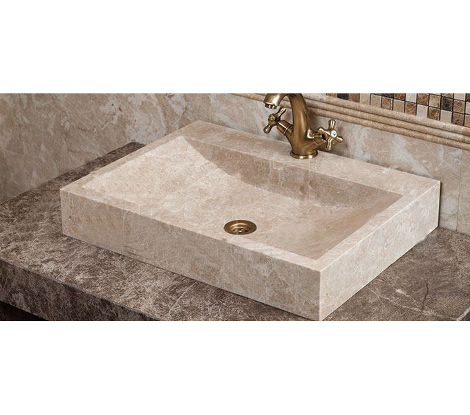 Light Emperador Square Wash Basin