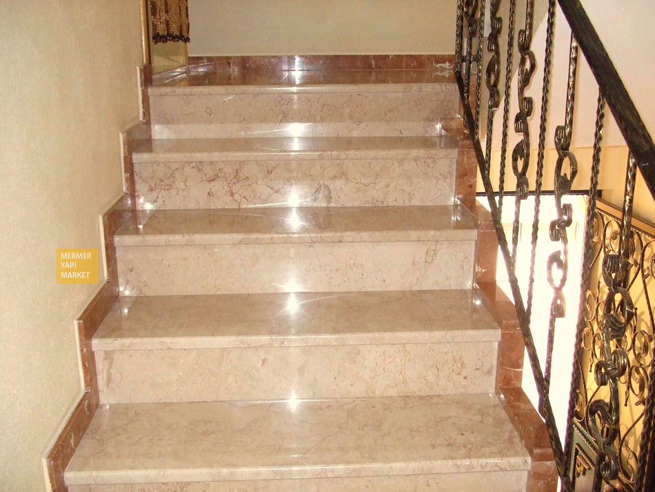 Rosalia Beige Marble Stair - Riser Included