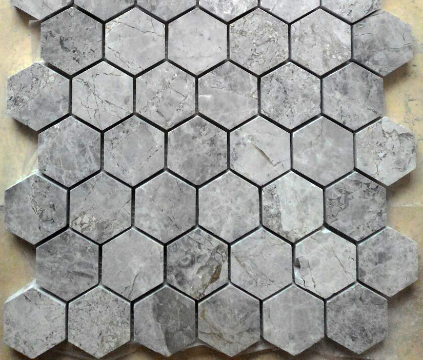Tundra Gray Hexagon Mosaic
