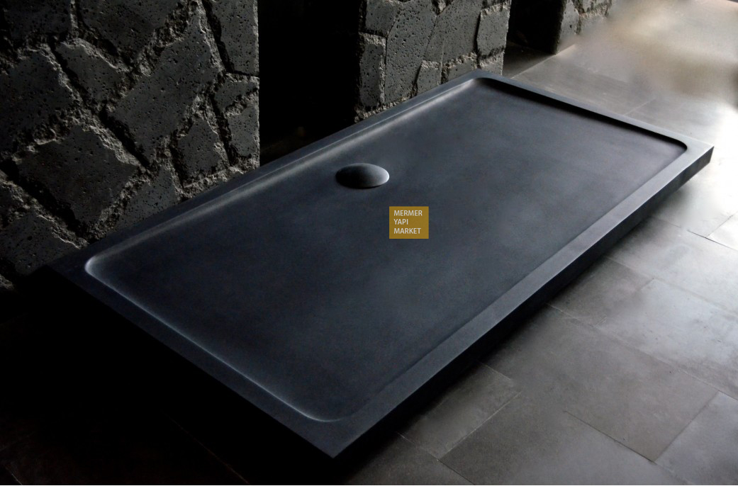 Black Basalt Shower Tray - Long Size