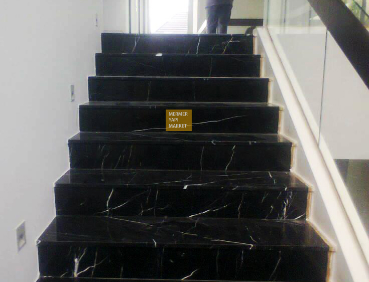 Toros Black Marble Stair - Riser Included
