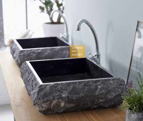 Basalt Black Outside Sink