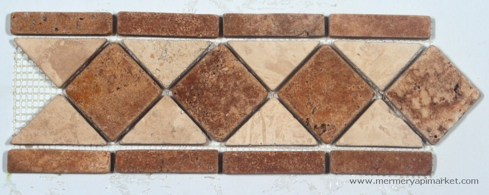 Light Travertine Gold Border - Tumbled