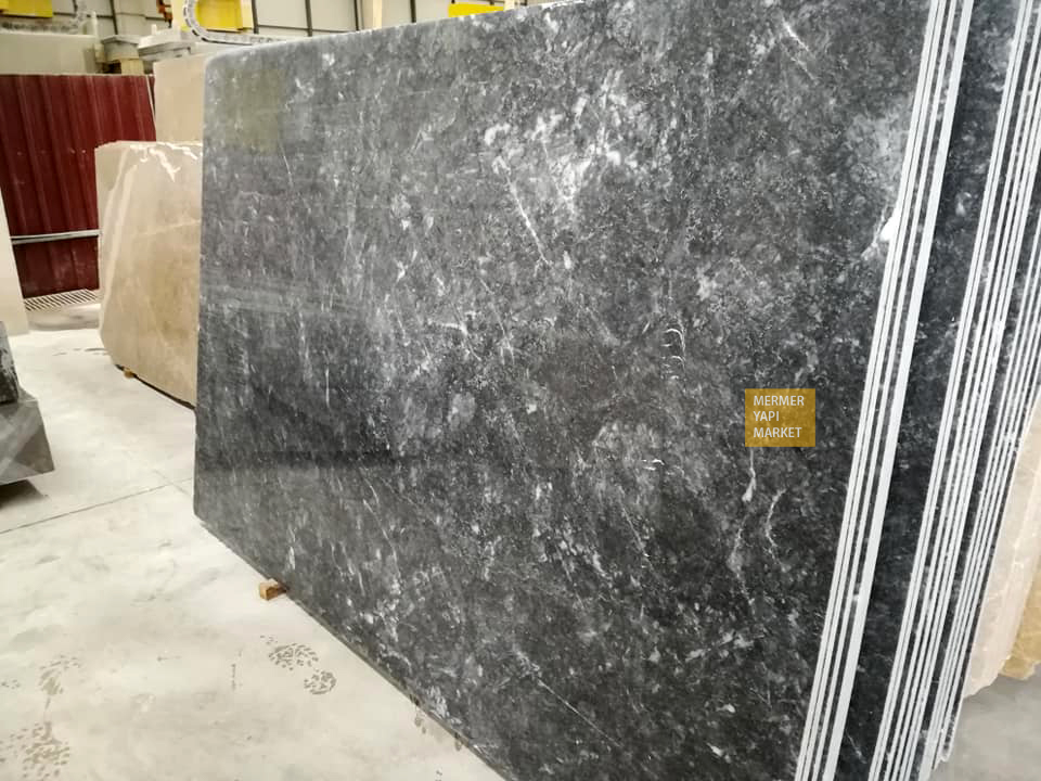Aegean Black  Marble Slabs
