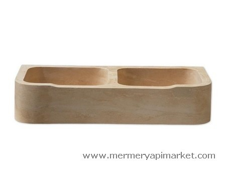 Double Sink Square Wash Basin
