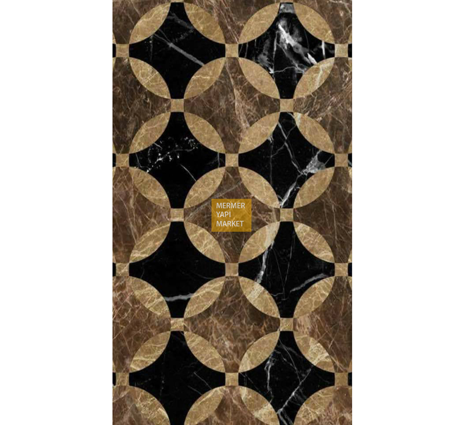 Emperador Marble Floor Pattern Mix