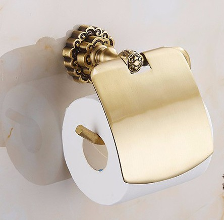 Antique Gold Plated Toilet Paper