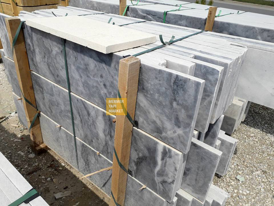 Afyon Gray Marble Handrail - 2 cm Thickness