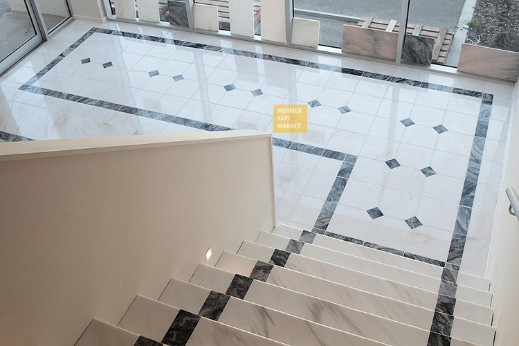 White Marble Floor Pattern