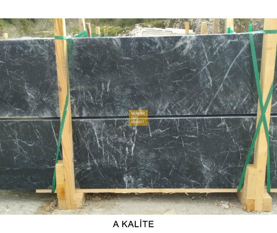Volkano Black Marble Handrail - 2 cm Thickness A Quality