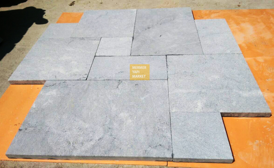 Gray Marble Sandblasted French Set